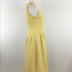DownEast Dresses - DOWNEAST POLKA DOT YELLOW MIDI DRESS